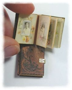 Jean Day miniature scrap album - I want to recreate this with the old photos in Great Aunt Miggy's old album!!!!!......β
