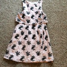 <Elle> Pink & Black Floral Popover Dress Cute lace dress that was worn once. Bought from kohls and it's pretty much brand new!!  Please ask questions before purchase. Thank you  Elle Dresses