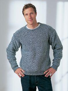 Men's Dropshoulder Sweater | Yarn | Free Knitting Patterns | Crochet Patterns | Yarnspirations