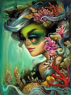"PangeaSeed is pleased to announce the 2nd print release of our 2013 print suite project: Sea of Change - The Year of Living Dangerously.    Details:    Month: February   Artist: Tatiana Suarez      Species: Corals  Title: ""Rainforests of the Sea""  Edition: Signed / numbered edition of 50 prints  Paper: Fine art giclée print on Italian  cold press paper  Size: 12'' x 16''   Print Maker: Spoke Art Editions   Release Date: Available on February 15th @ 12PM PST via the PangeaSeed Emporium -"