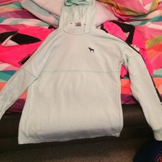 """TRADED I would love to trade! Good condition. A little pilling I will wash before I send it. I am a 32A, 5'6"""", size 00, XS. PINK Victoria's Secret Sweaters"""