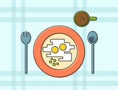 """My 20 days Line Illustration Challenge  """"Day 11. What if ordinary breakfast was prepared by mom's hands? it's the most amazing breakfast in the world! Love each other."""""""