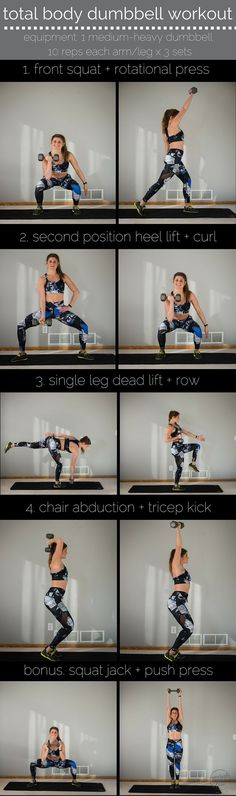 total body dumbbell workout pin -- alala style I upper body workout I dumbbell workout I dumbbell workout for women I upper body workout for women I fitness II Nourish Move Love Fitness Workouts, At Home Workouts, Fitness Tips, Total Body Workouts, Workout Body, Fitness Plan, Fitness Goals, Mental Training, Weight Training