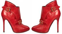 Red #AnkleBoots