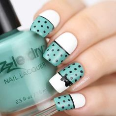 Beautiful nail art designs that are just too cute to resist. It's time to try out something new with your nail art. Cute Nail Art, Beautiful Nail Art, Gorgeous Nails, Cute Nails, Nail Art Designs, Nail Polish Designs, Nail Polish Colors, Gel Nagel Design, Modern Nails