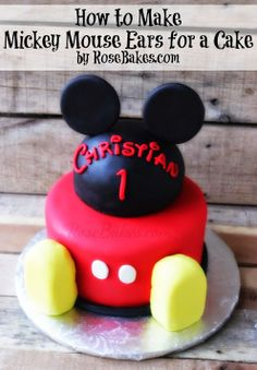 Tutorial Alert Check out my latest (easy!) tutorial for How to Make Mickey Mouse Ears for a Cake!! http://rosebakes.com/how-to-make-mickey-mouse-ears-for-a-cake/