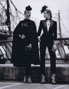 "W August 2011""Scene on the Street""Models: Daphne Groeneveld & Lindsey Wixson /  Stylist: Edward Enninful"