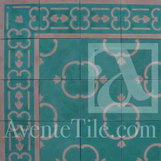 Traditional Malaga Cement Tile 8 x 8 Handmade Cement Tile