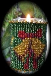 Christmas Bells Candle : Beading Patterns and kits by Dragon!, The art of beading.