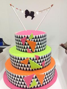 Neon Theme Wedding Cake