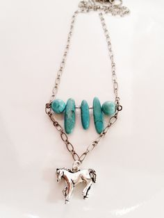Turquoise Horse Necklace Women Teen or Gift by AbsoluteJewelry