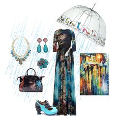 April Showers by kim-pearson on Polyvore featuring polyvore, fashion, style, Elie Saab, John Fluevog, Vivienne Westwood, Wendy Yue and Totes