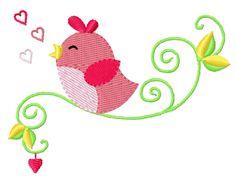 Bird Vogel Stickmuster Stickdatei Embroidery Design by Stickmuster.org. Dein Shop für Stickmuster / Stickdateien. Your Embroidery Designs Shop.
