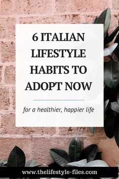 6 Slow Living Lessons from Italy for a Healthier, Happier Life. Lifestyle + Mindfulness Tips That Are Very Easy to Incorporate into Our Everyday Lives Italian Lifestyle, Italian Chic, Healthy Lifestyle Quotes, Earl Grey Tea, Minimalist Lifestyle, Slow Living, Wellness Tips, Simple Living, Living Quotes