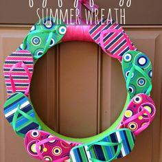 Tutorial Tuesday - Summer Flip Flop Wreath