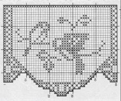 Szydełkomania: Borders for Filet Crochet, Crochet Diy, Crochet Birds, Crochet Stitches, Knitting Patterns, Crochet Patterns, Crochet Curtains, Beautiful Crochet, Tatting
