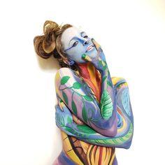 Bodypainting by Ana Mendina With Alice Sea Unicorn, Alice, Princess Zelda, Sea, Gallery, Drawings, Artwork, Fictional Characters, Dibujo
