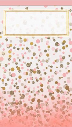 Pretty pink and gold wallpaper for iphone gorg pinterest gold pink and gold dots voltagebd Images