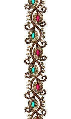Kashmiri Wedding Dress Lace Embroidery Design