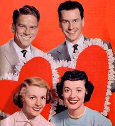Your Hit Parade's TV vocalists (top, l. to r.): Snooky Lanson, Russell Arms and (bottom, l. to r.) Dorothy Collins, Gisèle MacKenzie.