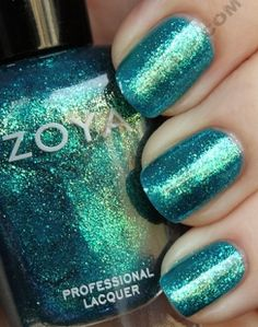 Teal, Turquoise, Blue-Green « | All Lacquered Up-- Zoya Nail Polish Charla
