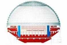Stockholm Globe Arena  C.F. Møller. Photo: Berg Arkitektkontor