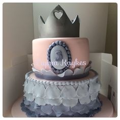 Sofia the First themed tiered cake