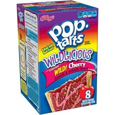Kellogg's Pop-Tarts Wildlicious Frosted Wild! Cherry Toaster Pastries, 8 count