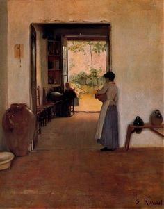Santiago Rusiñol i Prats (Spanish painter, poet, and playwright) 1861 - 1931 Sitges Interior, ca. 1894 oil on canvas x 65 cm. Art Gallery, Spanish Painters, Spanish Art, Art Painting, Interior Art, Spanish Artists, Western Art, Painting, Art And Architecture