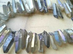 5 Pieces of Pastel Silver Crystal Stick Points by CarmanTreasures, $1.62