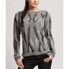 Graphite Abstract Knit Pullover Sweater @ Looksgud.in #wintercollection #winterstyle #sweater #fashion