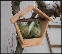 Mangeoire Oiseaux Bois Naturel Mazot Esat Le MORVAN