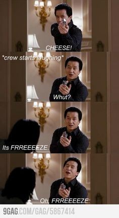 Oh Jackie Chan... How we love your misunderstanding English ways lol.