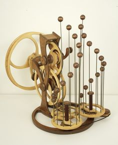 Kinetic Sculpture by David C. Roy - All Sculptures | Wood That Works | Kinetic Art - Symphony