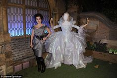 Magic: Helena poses with her fairy godmother costume...