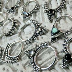 New Septum Jewelry in the shop! Septum Jewelry, Minimalist Jewelry, Hoop Earrings, Bracelets, Silver, Shopping, Fashion, Moda, Fashion Styles
