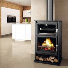 Bronpi Suiza Wood Burning Stove With Oven   10kW
