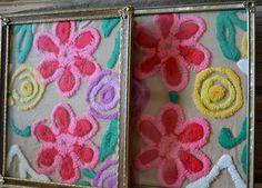 ~~Vintage Chenille Placed in Vintage Frames~~