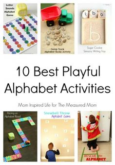 Want to know how to teach the alphabet to toddlers? Try these playful activities!