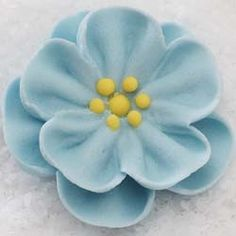 "1.5"" Royal Icing Dainty Bess Rose - Medium - Pastel Blue (72 per box)"