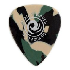 Planet Waves Camouflage Celluloid Guitar Picks, 10 pack, Light by Planet Waves. $4.49. The Planet Waves 1CCF2-10 is a 10-pack of light camouflage-colored celluloid picks.Celluloid is one of the most popular guitar pick materials today. It's available in a wide variety of shapes, colors and thicknesses, and provides a natural feel and warm, fat tone. A man-made material, celluloid was first introduced in the early 1900's as a substitute for natural tortoise shell picks.Planet Wav...