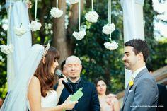 cerimonia - altar - noivos - votos - decoracao - casamento de dia - casamento ao ar livre - blog de casamento