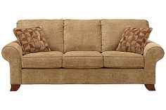 "The Townhouse - Tawny Queen Sofa Sleeper from Ashley Furniture HomeStore (AFHS.com). Designed with a subtle contemporary style and subdued earth tones, The ""Townhouse-Tawny"" upholstery collection creates a warm inviting atmosphere within any home."