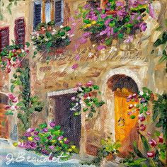 Original Oil Painting LANDSCAPE Italy by JBeaudetStudios on Etsy, $60.00