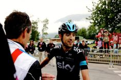 Photo gallery: a day at the Dauphiné - part two (Courchevel) - Mikel Nieve allows himself a smile after a magnficient ride to win the final stage of the 2014 Criterium du Dauphine. The sporting Spaniard hung around to congratulate overall winner, Andrew Talansky. Speaking of whom…