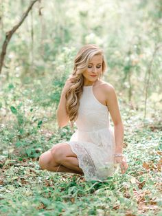 White Lace Short Dress Ideas for High School Senior Photography Session in Myrtle Beach and Charleston, SC