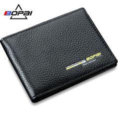 6b17a6d9286 Bostanten 100% Genuine Leather Mens Wallets Luxury Men Wallets Purse Brand  Wallet Black Card Holder Coin Business Bifold Wallet - The Big Boy…