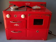 Vintage Little Chef Toy Stove by ETCThisAndThat on Etsy, $45.00  For my Inman.