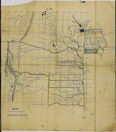 Lands Assigned to Indians, Western Territory, ca. 1834