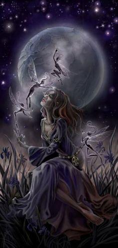 Stephanie Law Midnight Iris Print